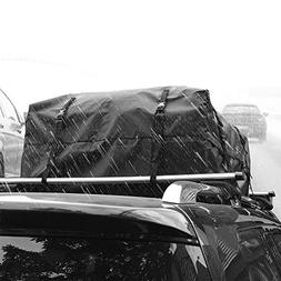 AUXMART Rooftop Cargo Bag, Car Top Carriers for Vehicles wit